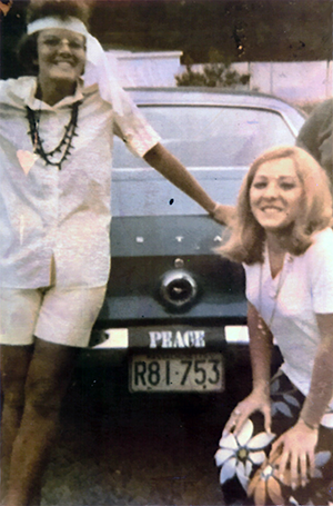Rachelle and Jean in 1971