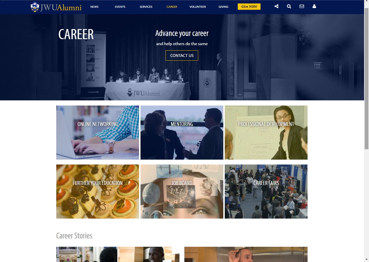 Career screen shot